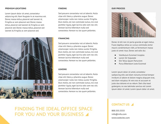 Commercial real estate brochure template lucidpress for Commercial real estate brochure template