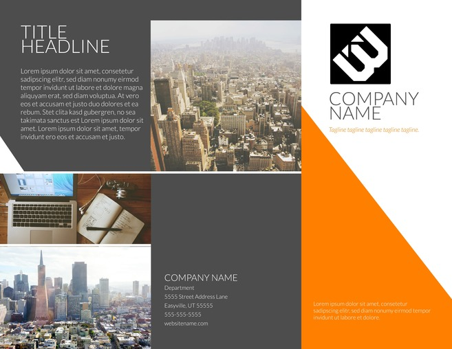 12 free business brochure templates lucidpress contempo modern tri fold brochure template wajeb Gallery