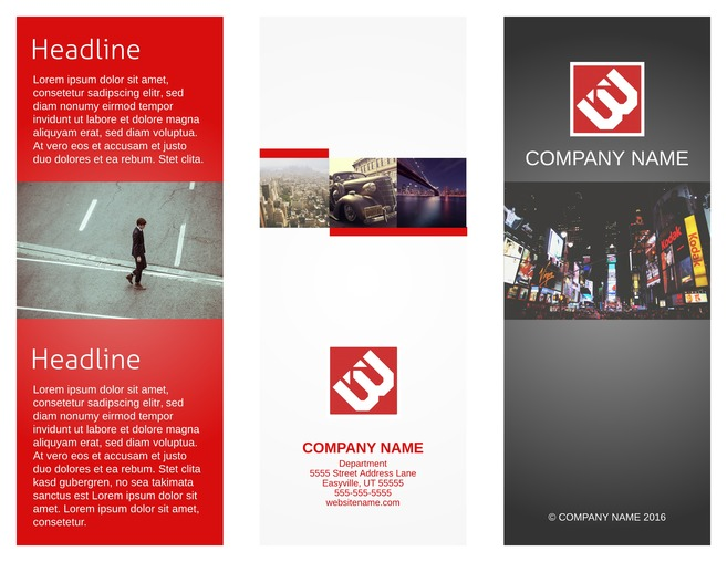 Corporate Tri Fold Brochure Template  Brochure Word Templates