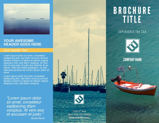 Tri-fold Business Brochure Template