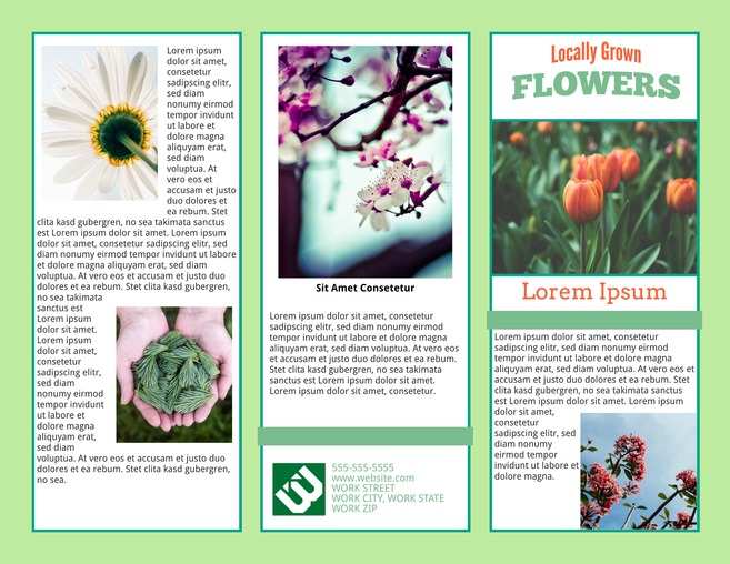 Lovely Perennial Tri Fold Brochure Template