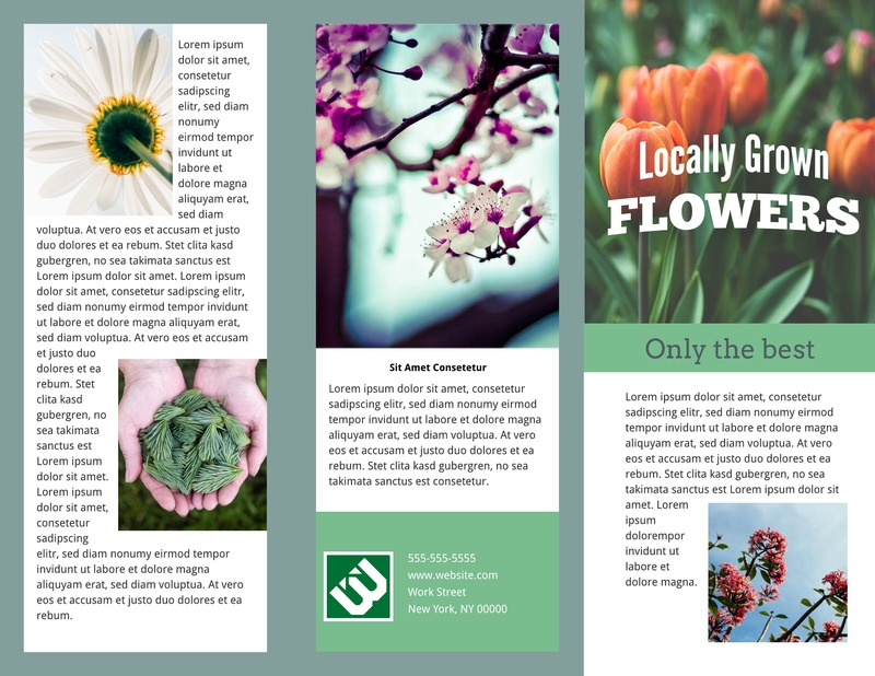 Perennial tri-fold brochure template