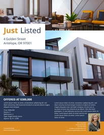 Bungalow Listing Flyer Template