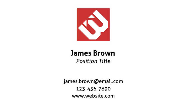 corporate landscape business card template