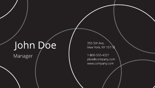 Ecliptic Black Business Card Template