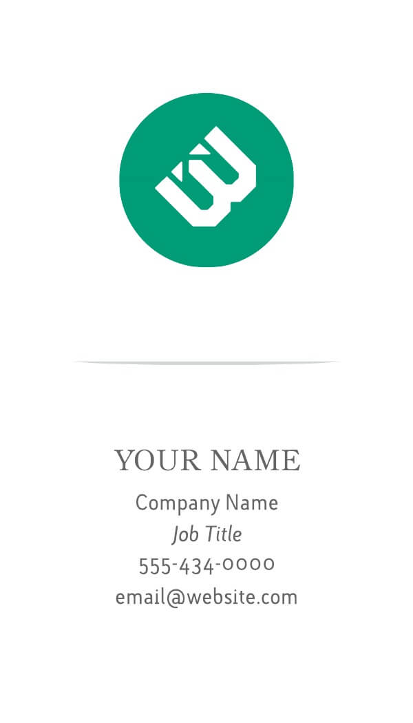 modern business card example