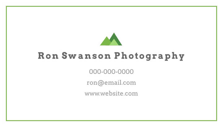 outdoor business card sample