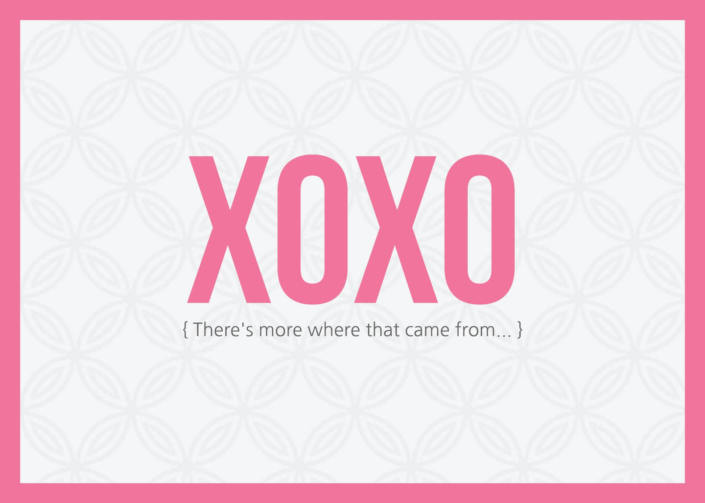 Xoxo Valentine S Day Card 7x5 Lucidpress
