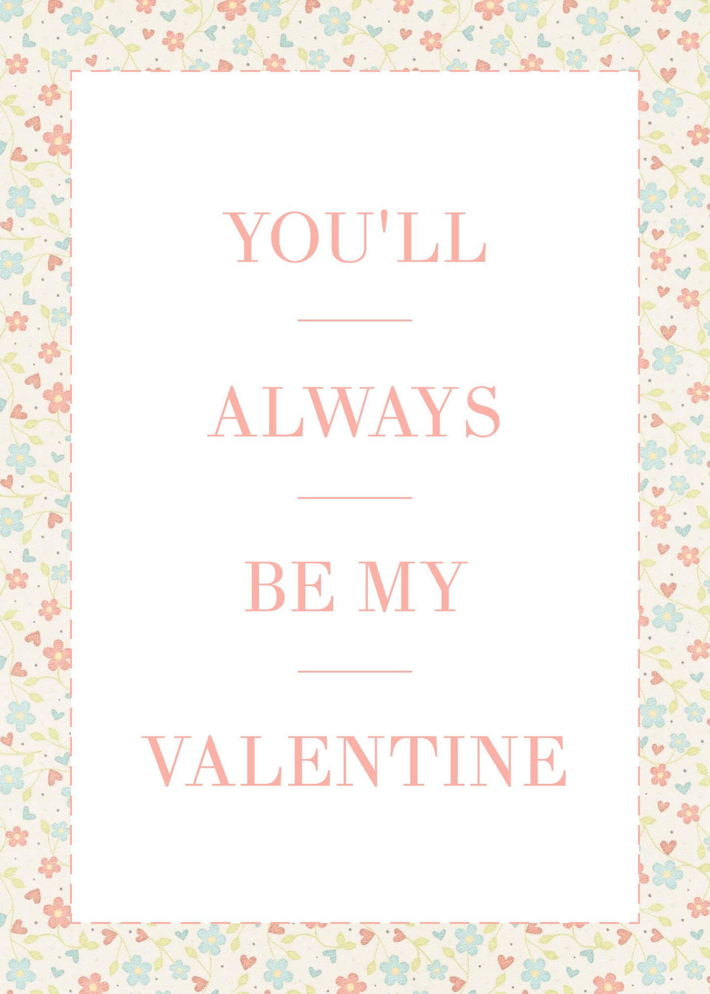 romantic valentines card template