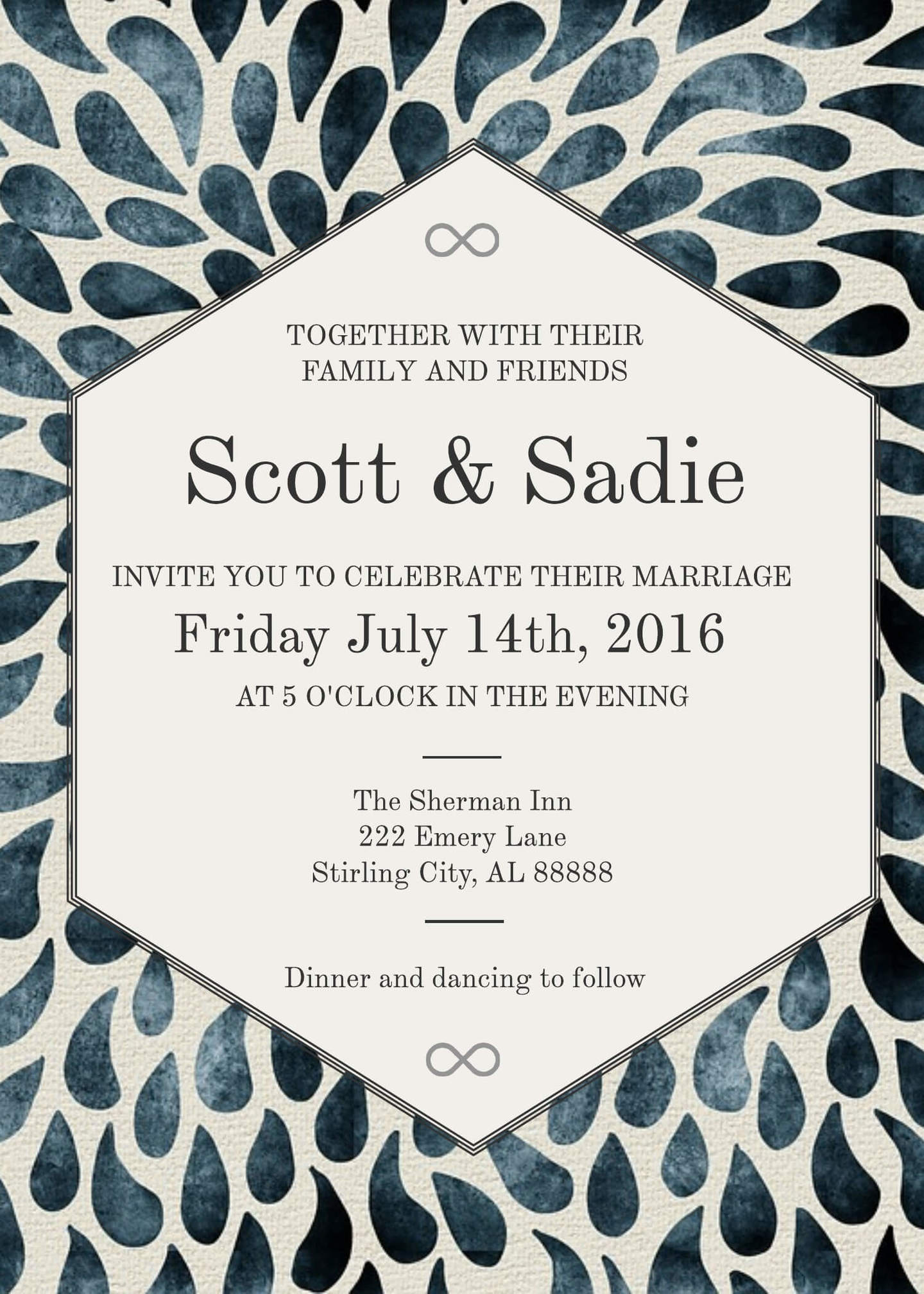 16 free invitation card templates examples lucidpress rsvp wedding invitation 5x7 stopboris Image collections