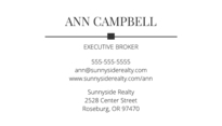 Classic Realtor Business Card Template