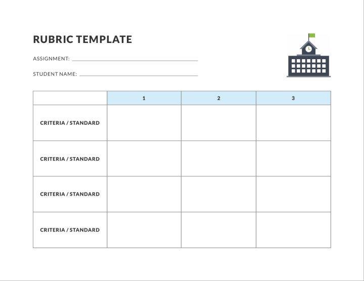 rubric 3 pt education template lucidpress