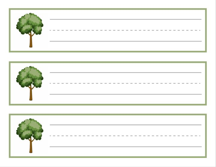 Tree Name Plates / Cubby Tags Education Template 01