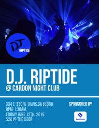 dj club event flyer template