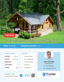 travel real estate flyer template