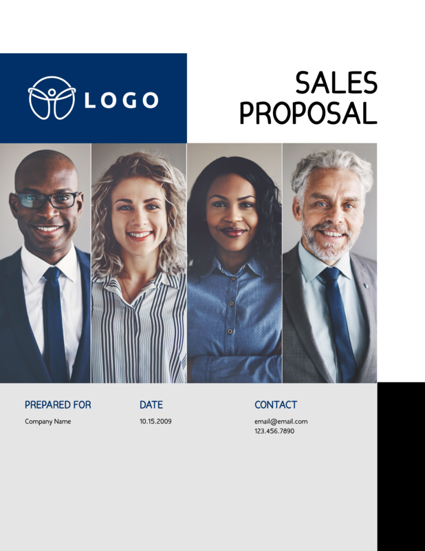 Friendly sales proposal template