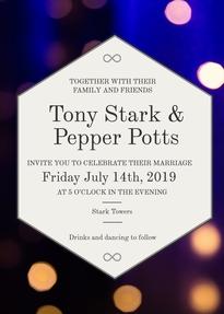 Tony Stark Wedding Invitation
