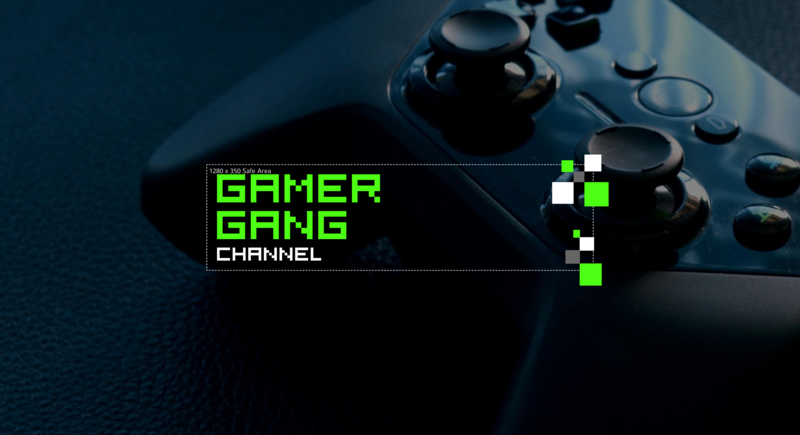 Gamer YouTube Channel Art Template