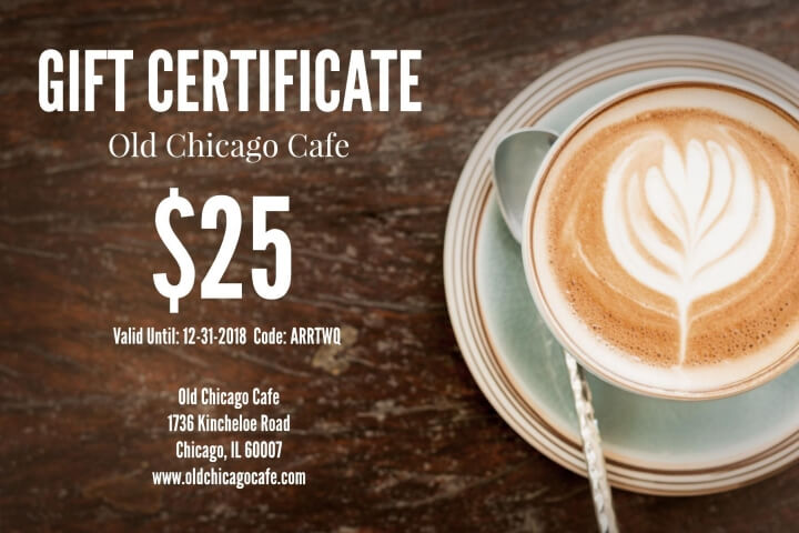 restaurant gift certificate templates examples lucidpress