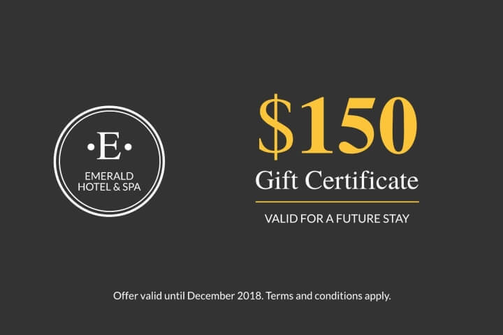 Woodsy Hotel Gift Certificate Template