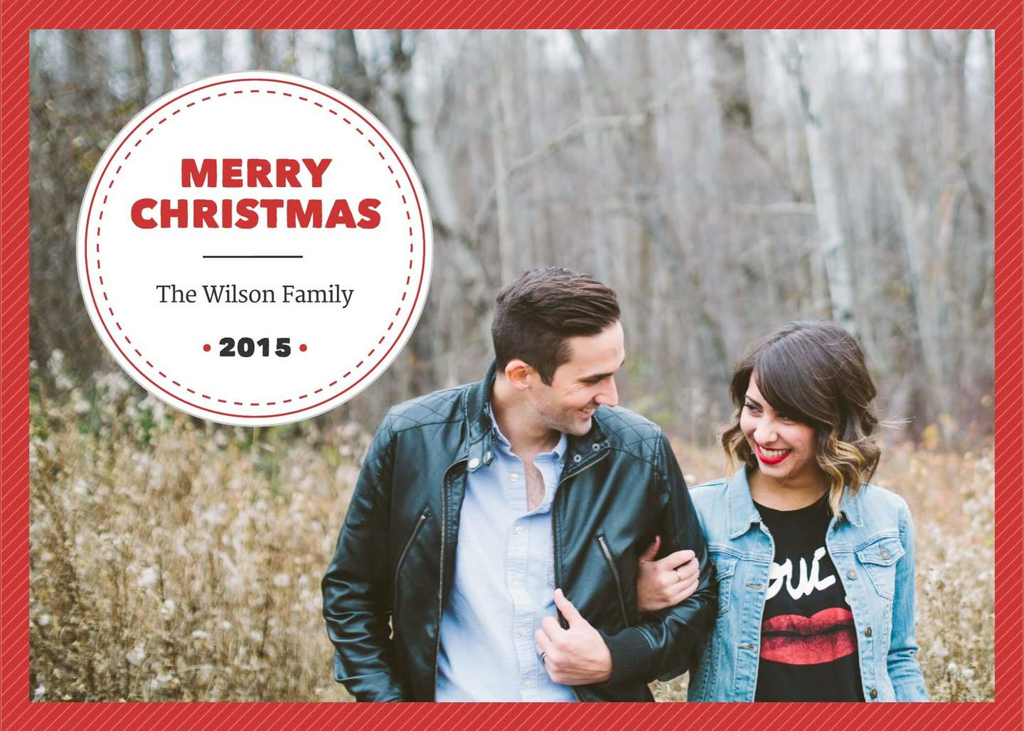 Photo christmas card template