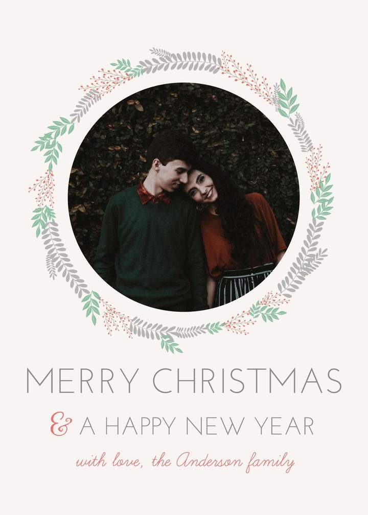 template for christmas card
