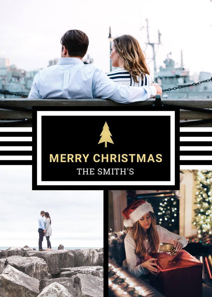 customizable christmas card