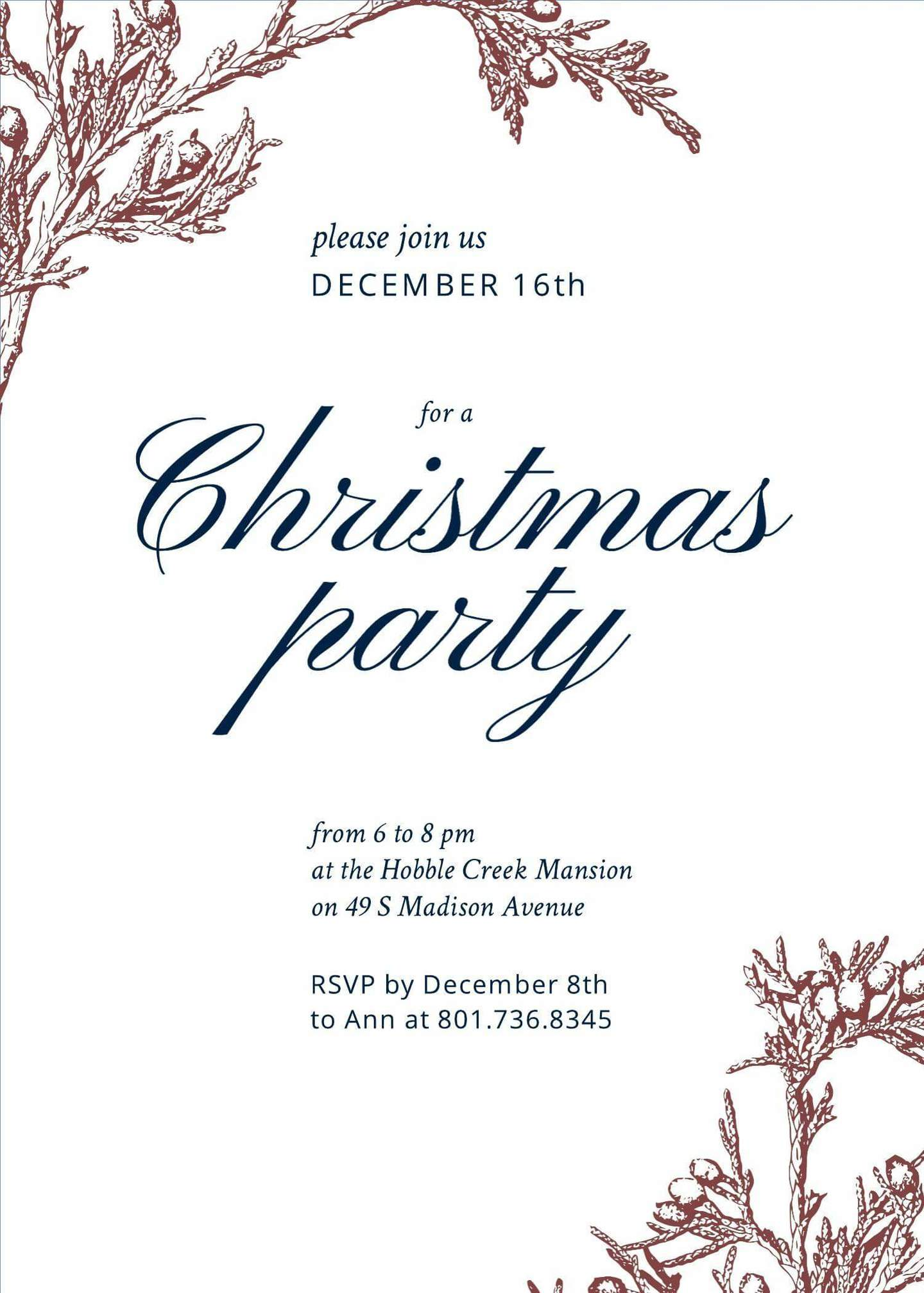business party invitation