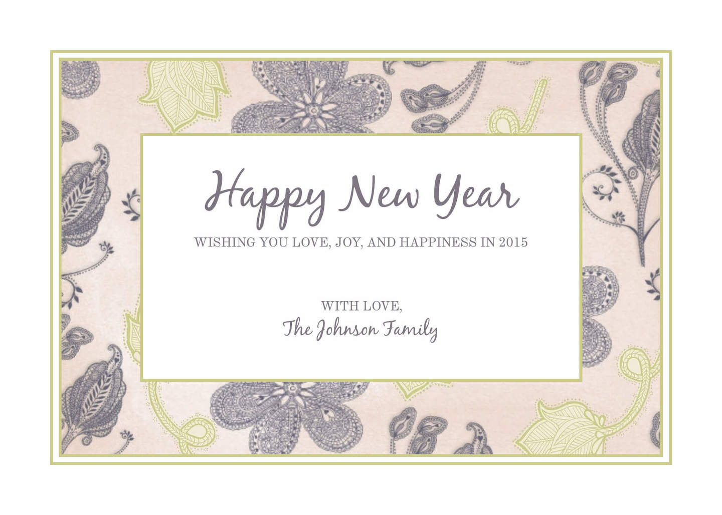 photo happy new year card 5x7