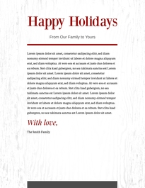 Holiday Letterhead Template #1