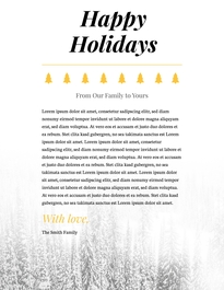 Holiday Letterhead Template #2