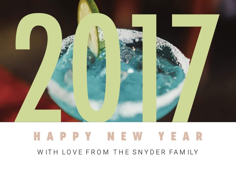 printable new years card