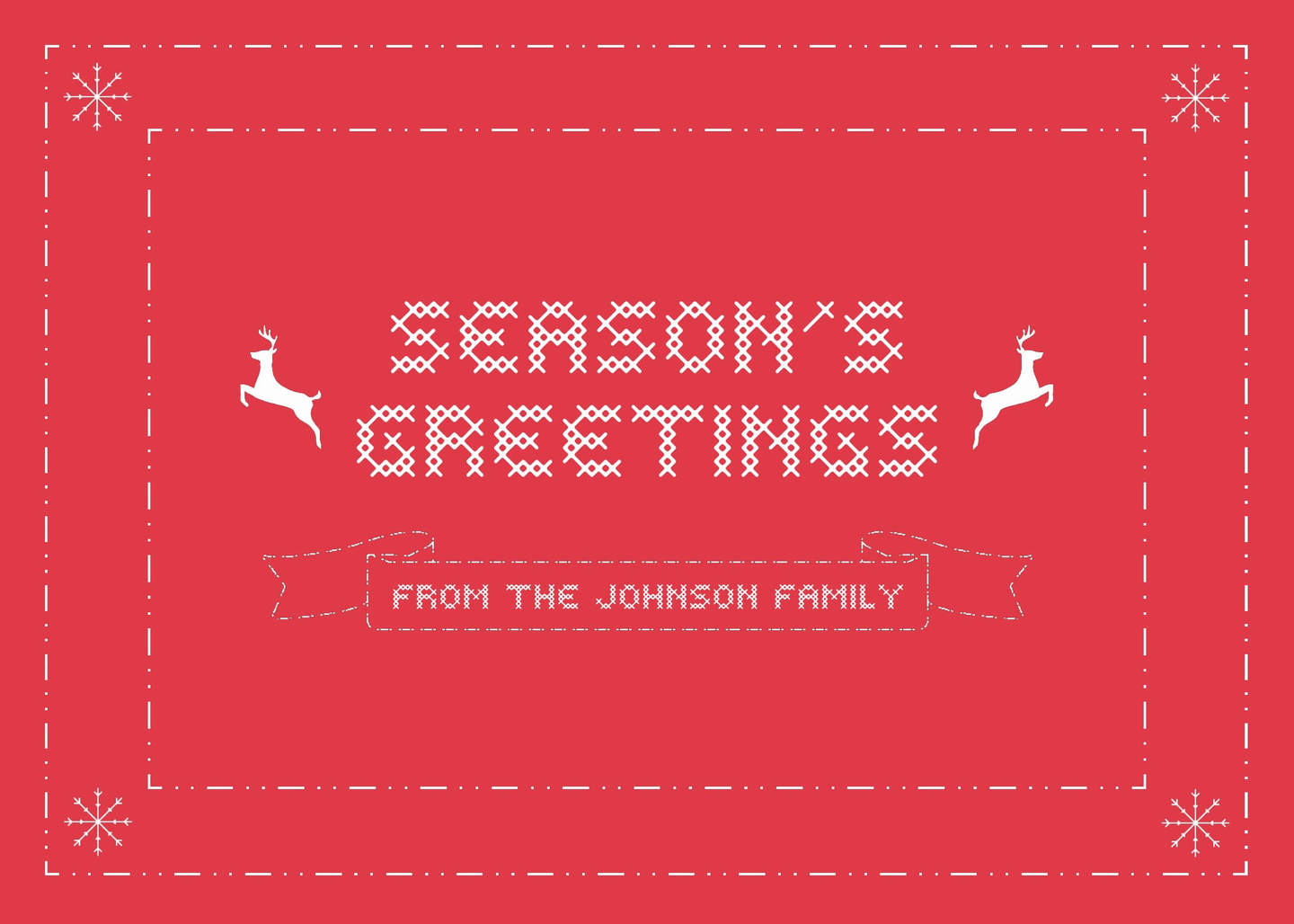 seasons greeting card template