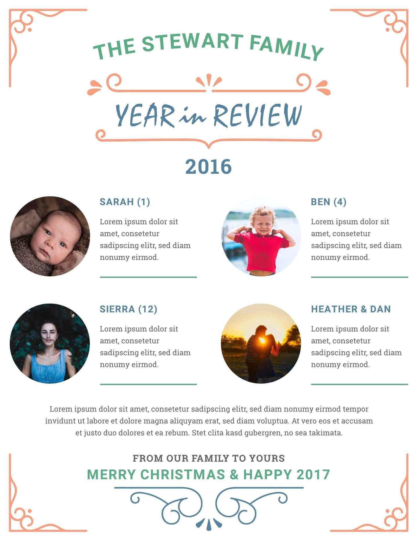 printable family newsletter
