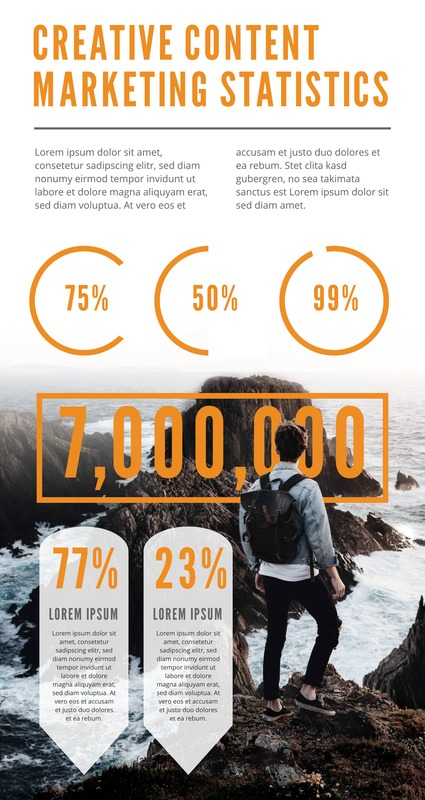 Creative content marketing infographic template