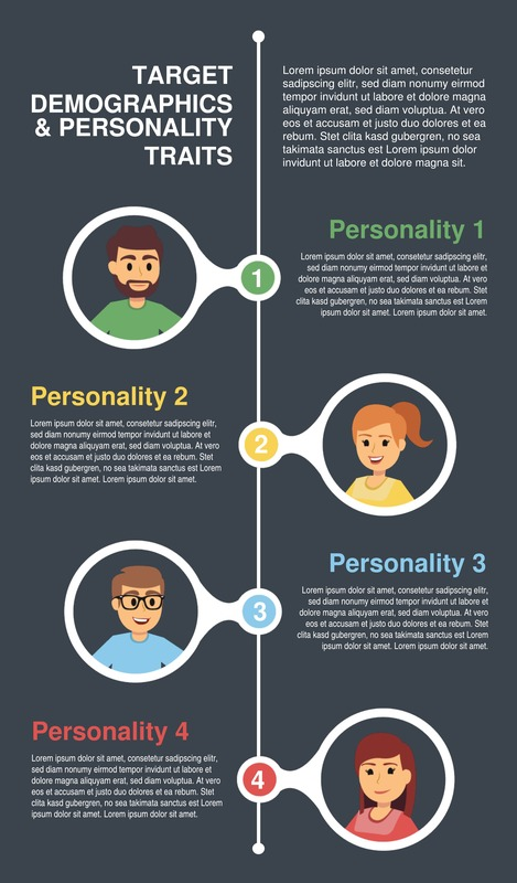 Target demographics and personas infographic template