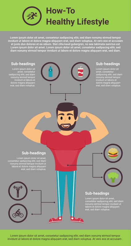 How-to healthy lifestyle infographic template