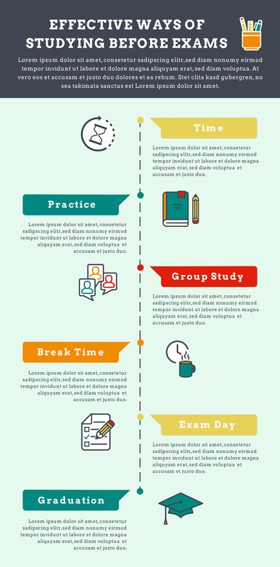 Effective study methods infographic template
