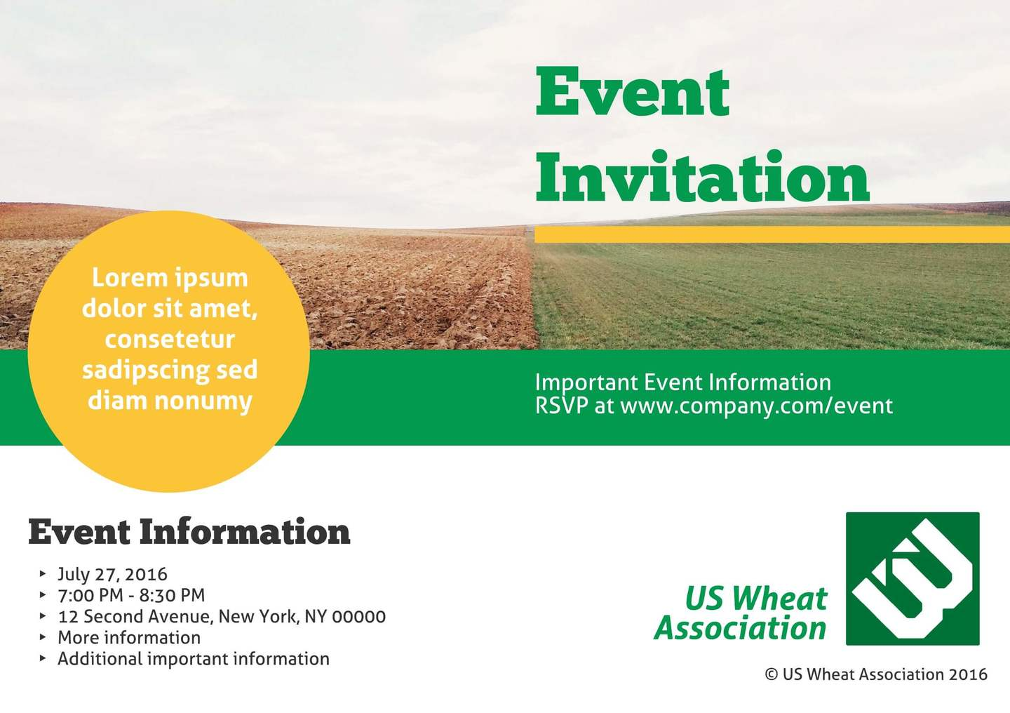 Heartland Company Event Invitation Template  Invitation Event Sample