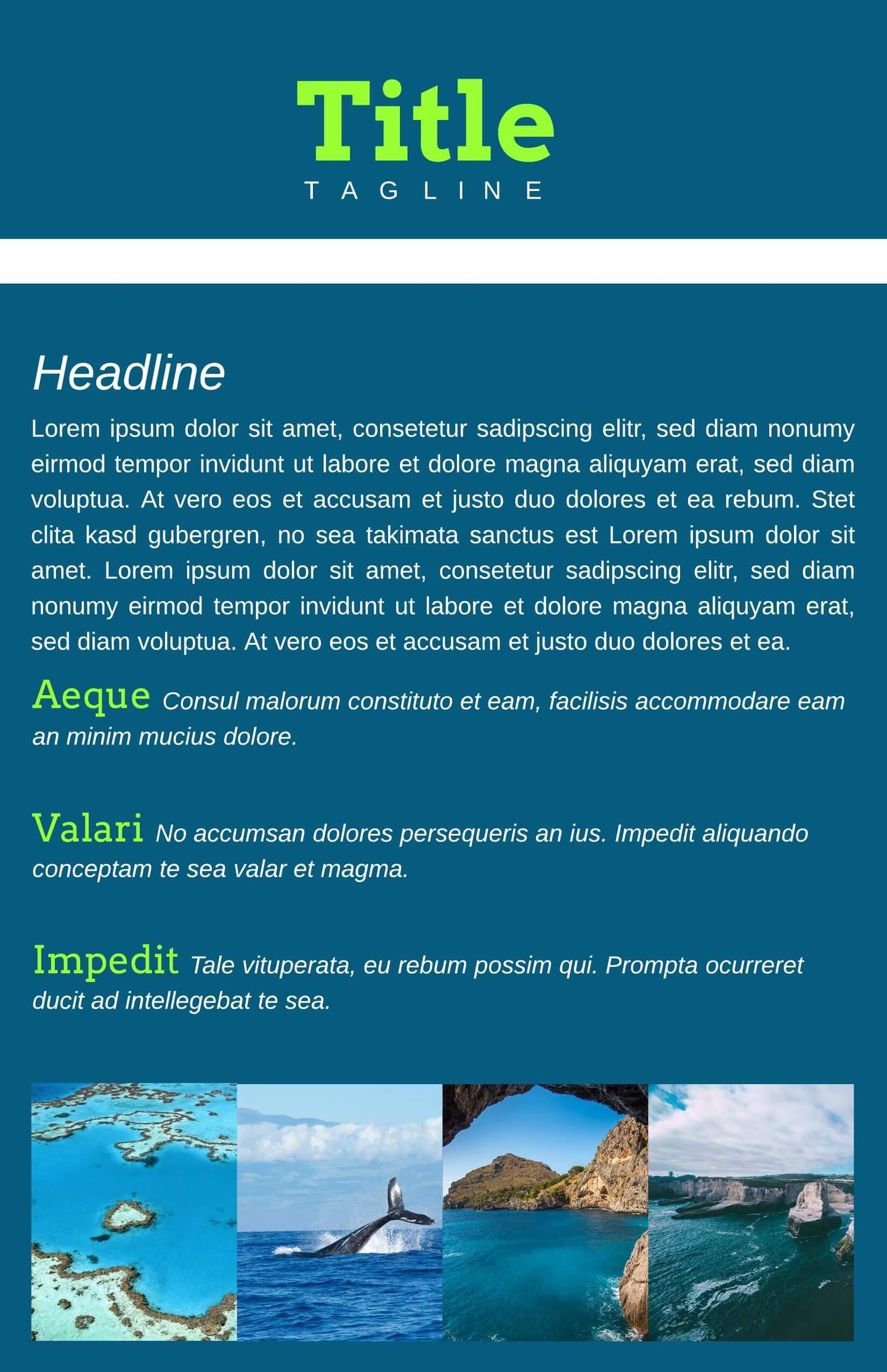 Tourist Leaflet Template