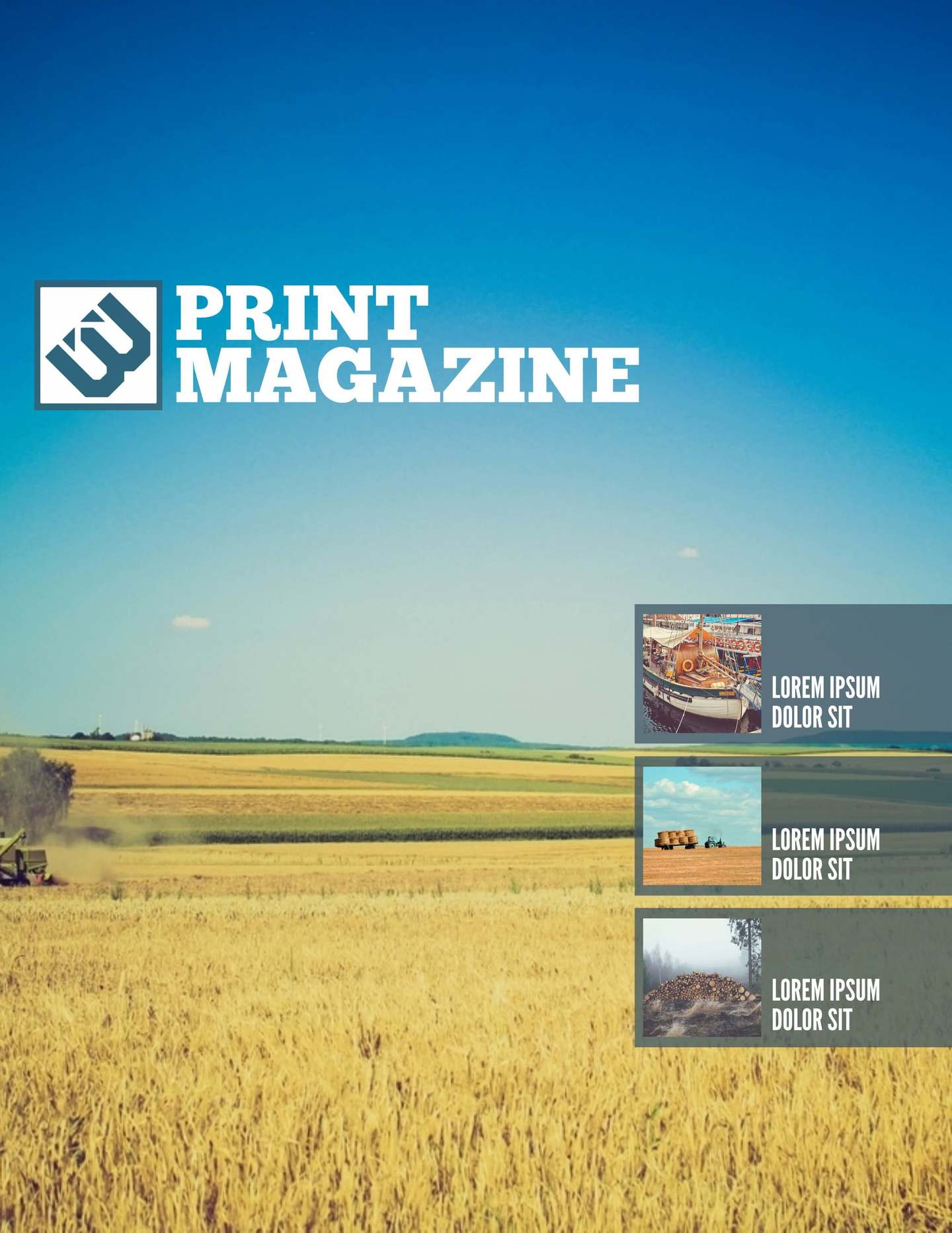 magazine layout template