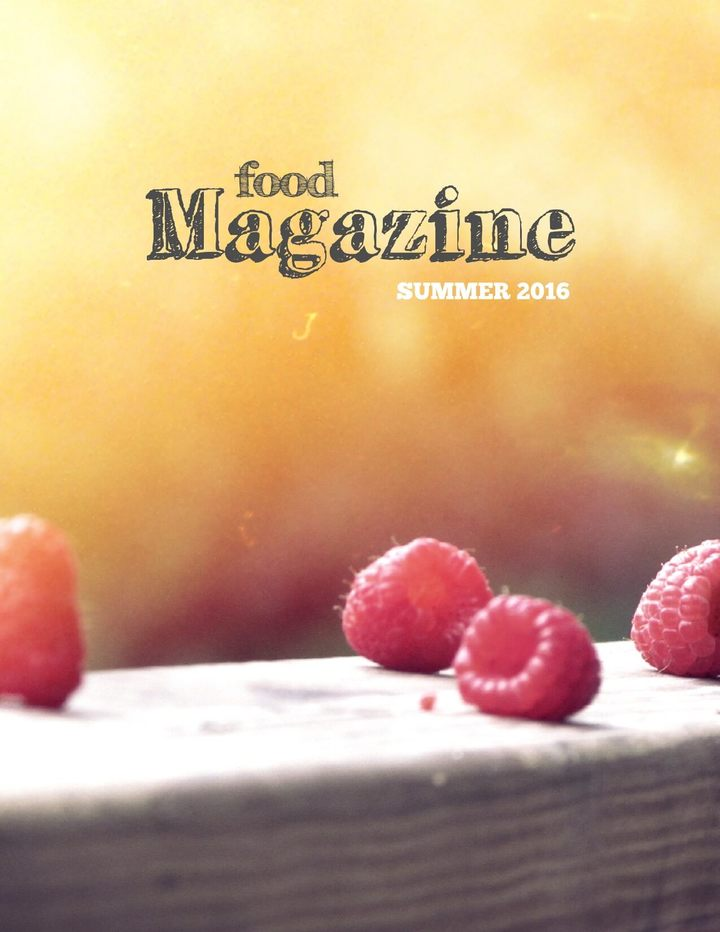 Connoisseur Food Magazine Template