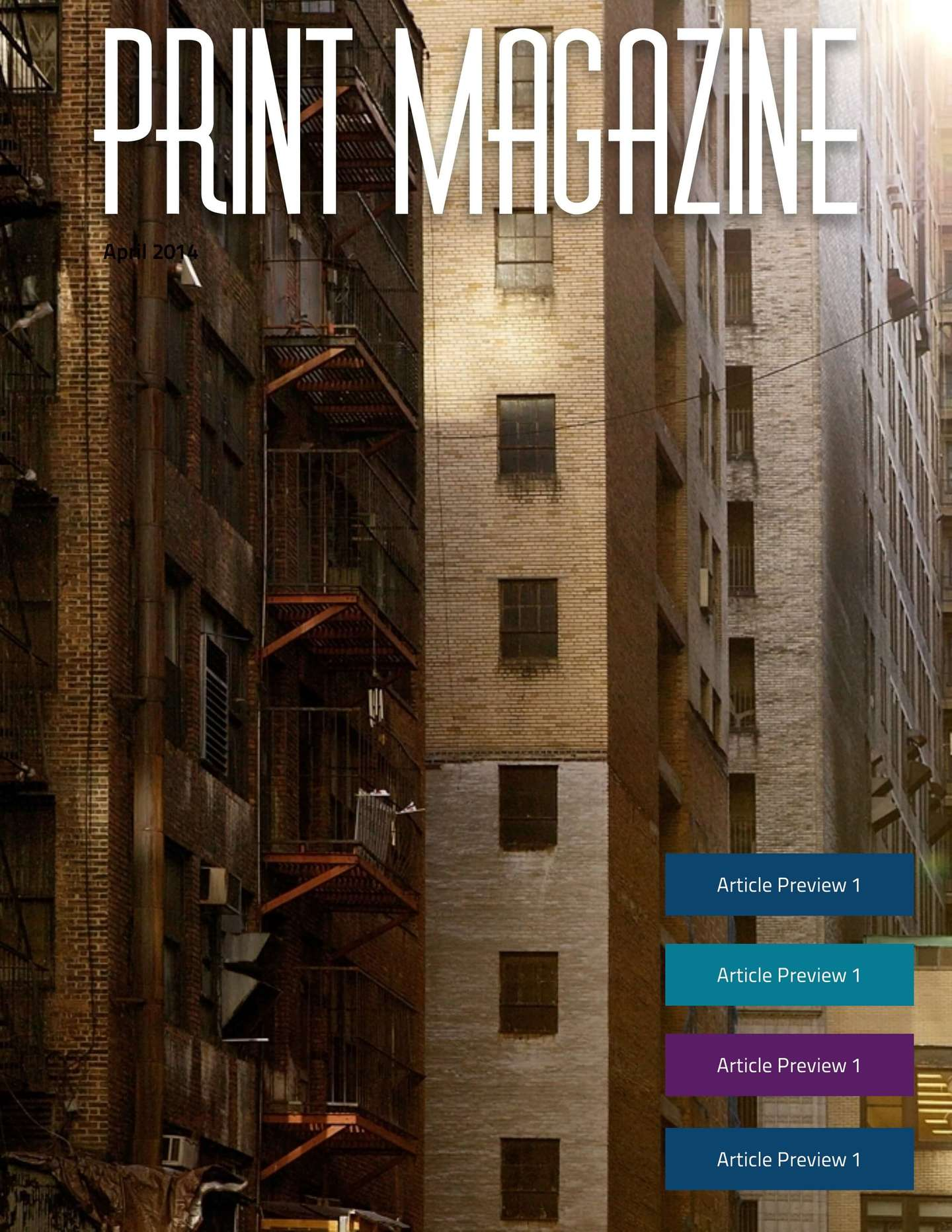urban print magazine template