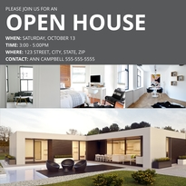Modern Open House Facebook Post Template