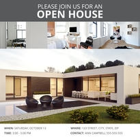 Modern Open House Instagram Post Template