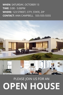 Modern Open House Pinterest Post Template
