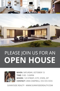 Modern Open House Postcard Template