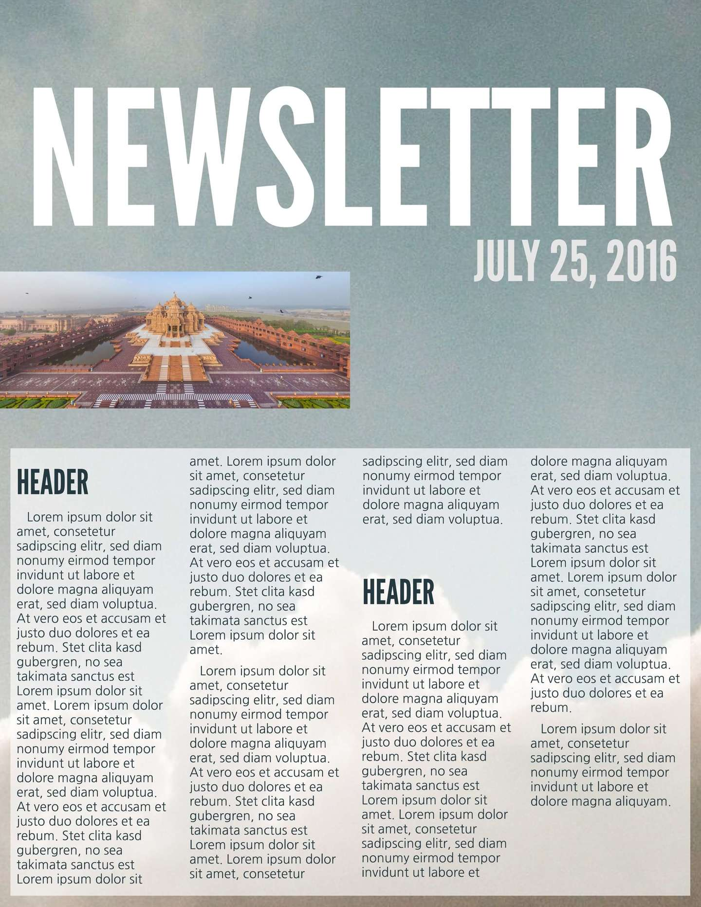 Delightful Bold Business Newsletter Template Regarding News Letter Formats