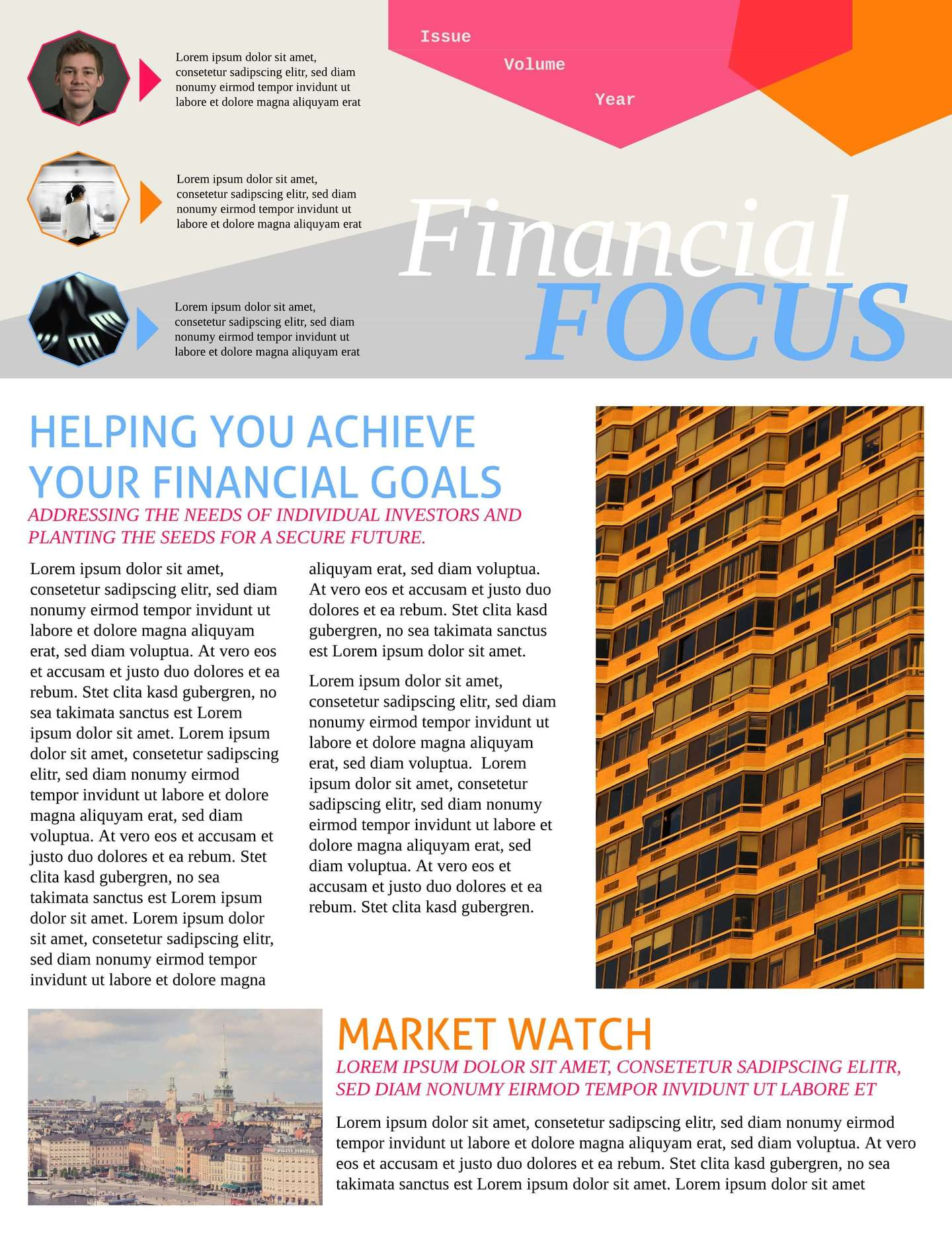 Merge Financial Business Newsletter Template  Example Of Newsletter Templates