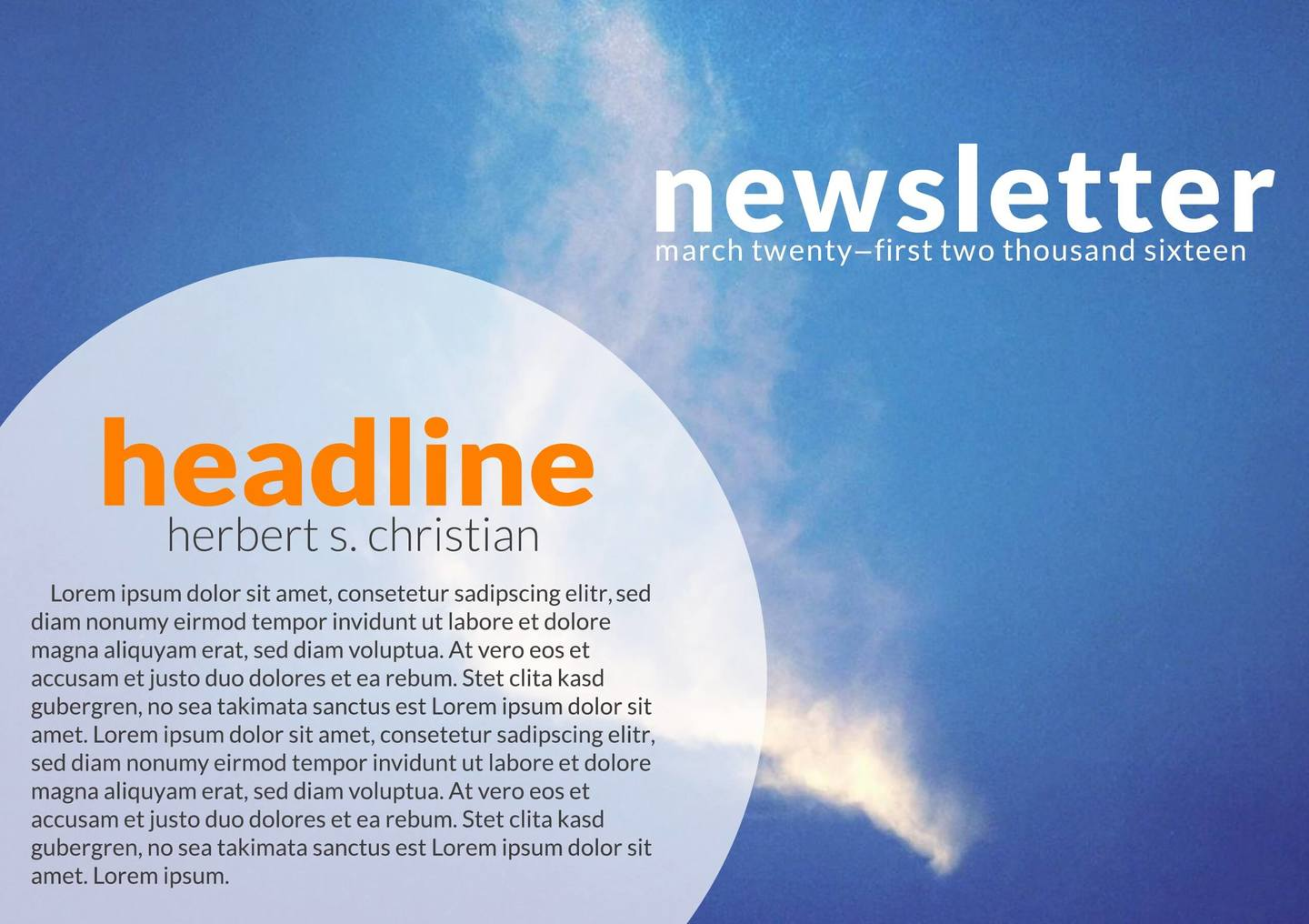 orbital digital newsletter template
